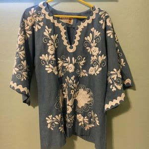Vintage Mexican Embroidered Blouse